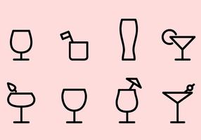 Vecteur libre d'icônes de boissons