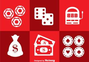 Vecteur d'icônes royales de casino