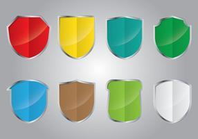 Wappen shield collections vecteur