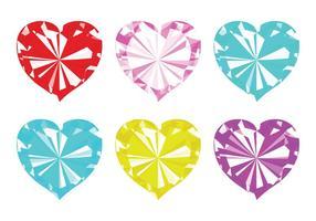 Vecteur strass hearts