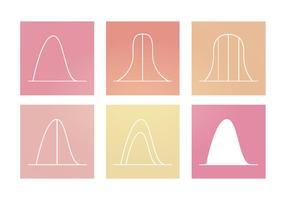 Graphiques de courbes de cloche vectorielle