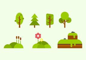 Vecteurs libres de la nature verte