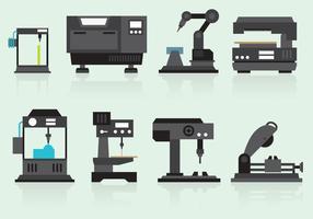 Vecteurs de machines industrielles vecteur