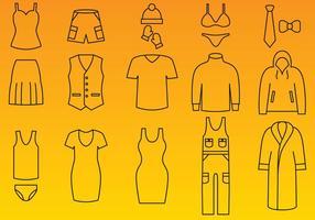Vecteurs d'icônes de vêtements vecteur