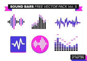 Barres de sons pack vecteur gratuit vol. 5