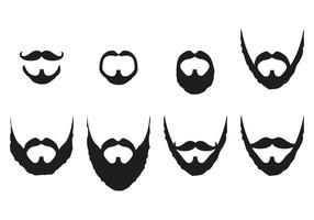 Vecteurs de moustache et de barbe vecteur