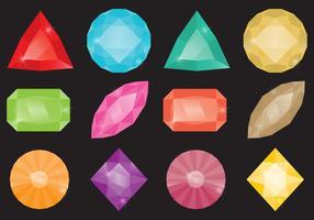 Pierres strass colorées vecteur