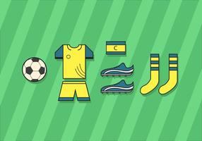 Kit de football vecteur