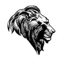 symbole de logo tête de lion vecteur