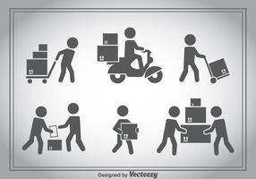 Ensembles vectoriels Delivery Man vecteur