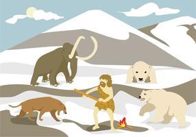 Vecteur d'illustration de l'âge de glace