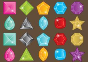 Strass pierres colorées vecteur
