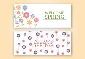 Vecteur de bannière de printemps gratuit