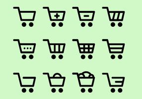 Vecteur d'icônes d'achats gratuits