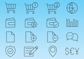 Icônes de ligne pour la boutique