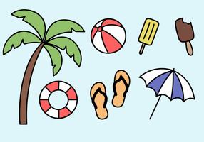 Vecteur libre d'éléments de vacances