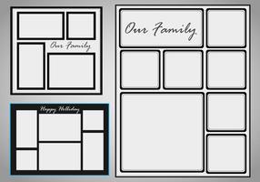 Modèle de collage de photos Vector set