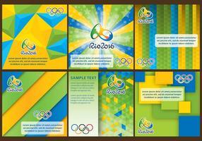Fonds Rio 2016 vecteur