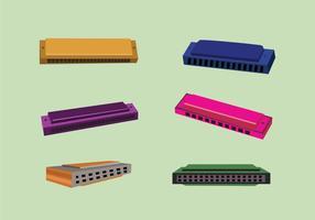 Vecteur harmonica classique