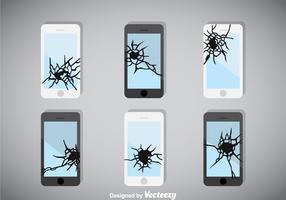 Vecteur de téléphone à écran cassé