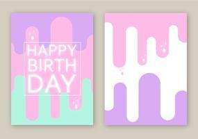Vector de carte d'anniversaire gratuit