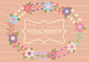 Vecteur gratuit de couronnes de fleurs