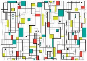 Fond d'œuvre du Bauhaus vecteur