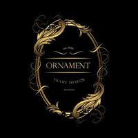 cadre ornement de luxe or