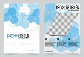 jeu de couvertures hexagonales bleues