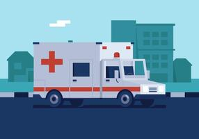 Ambulances vectorielles vecteur