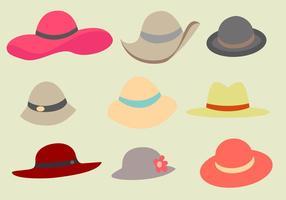 Vecteur de chapeau de dames gratuit