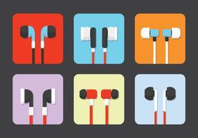 Vecteurs écouteurs isolés vecteur