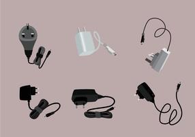 Vector d'illustration de chargeur de téléphone