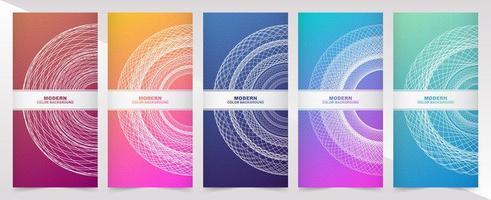 bannières verticales avec dégradé de couleur et conception de cercle