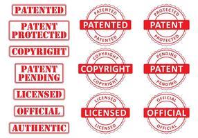 Timbres de brevets vecteur