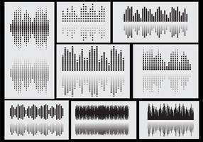 Vecteurs d'icônes des barres sonores vecteur