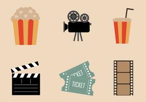 Vecteur d'éléments de film gratuits
