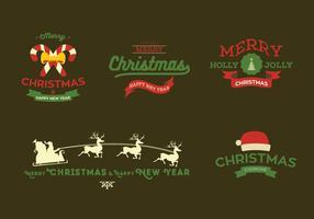 Vector de carte de Noël