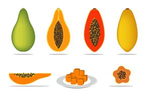 Vecteur libre de papaye