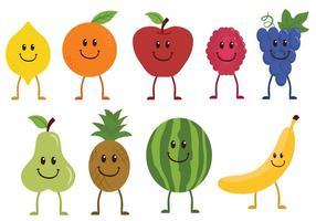 Vecteurs de caractères de fruits gratuits vecteur