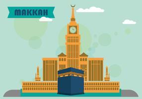 Makkah design plat vecteur