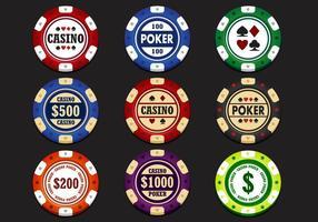 Vecteur de puce de casino