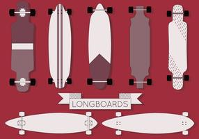 Vecteur longboard gratuit