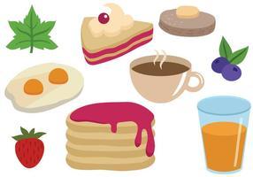 Vecteurs de petit déjeuner gratuits vecteur