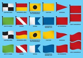 Vecteurs de drapeau de plage vecteur