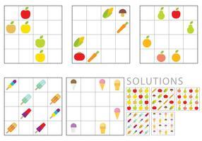 Sudoku pour les enfants vecteur