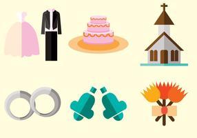 Vecteur planificateur de mariage