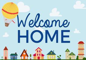 Vecteur domestique de bienvenue gratuit