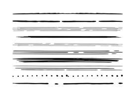 Ensemble de bordure de style dessiné à la main vecteur