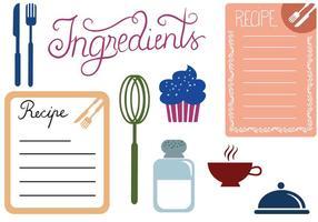 Vecteurs de recette gratuits